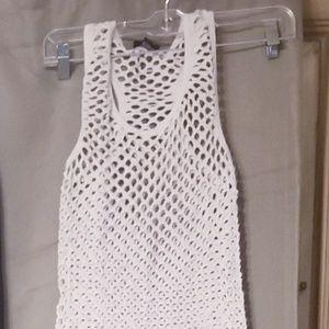 Rue 21, white net tank top, sz m